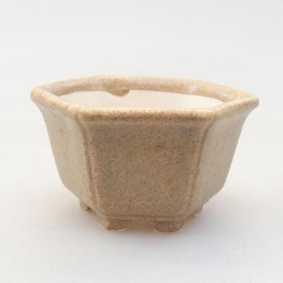 Mini bonsai bowl 5 x 4 x 2.5 cm, beige color - 1