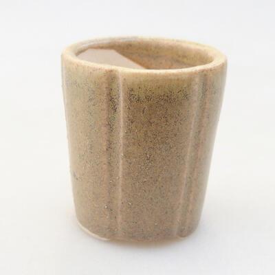 Mini bonsai bowl 3.5 x 3.5 x 4 cm, beige color - 1
