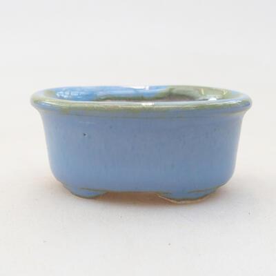 Mini bonsai bowl 4 x 3.5 x 1.5 cm, color blue - 1