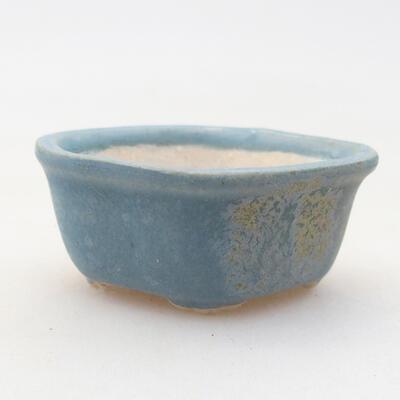 Mini bonsai bowl 4 x 3 x 2 cm, color blue - 1
