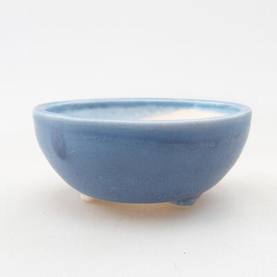 Mini bonsai bowl 6 x 6 x 2.5 cm, color blue - 1