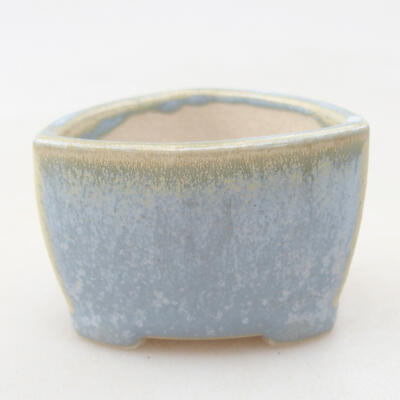 Mini bonsai bowl 4 x 4 x 3 cm, color blue - 1