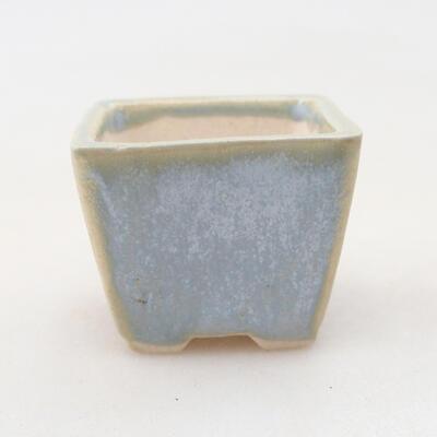 Mini bonsai bowl 3 x 3 x 2.5 cm, color blue - 1