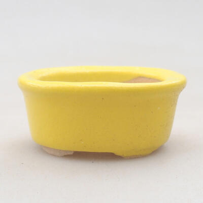 Mini bonsai bowl 6 x 3.5 x 2 cm, color yellow - 1