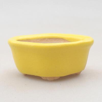 Mini bonsai bowl 4 x 3.5 x 2.5 cm, color yellow - 1