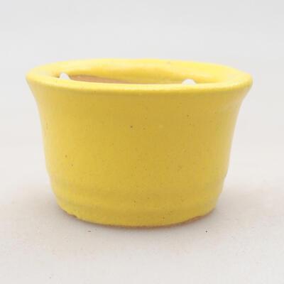 Mini bonsai bowl 3 x 3 x 2 cm, color yellow - 1
