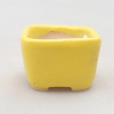 Mini bonsai bowl 3.5 x 3.5 x 2.5 cm, yellow color - 1