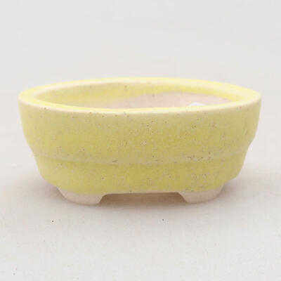 Mini bonsai bowl 4 x 2.5 x 1.5 cm, color yellow - 1