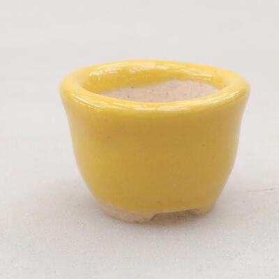 Mini bonsai bowl 2 x 2 x 1.5 cm, color yellow - 1