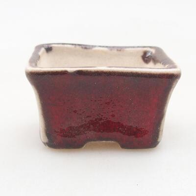 Mini bonsai bowl 4 x 3 x 2.5 cm, color red - 1
