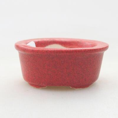 Mini bonsai bowl 4 x 3 x 2 cm, color red - 1