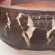 Ceramic bonsai bowl 15 x 15 x 6 cm, color cracked - 1/4