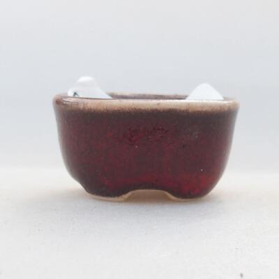 Mini bonsai bowl 3 x 2.5 x 1.5 cm, color red - 1