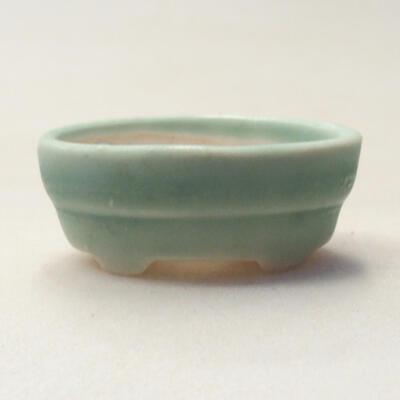 Mini bonsai bowl 4 x 2.5 x 1.5 cm, color green - 1