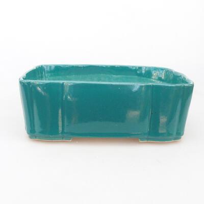 Ceramic bonsai bowl 19.5 x 16.5 x 7 cm, color green - 1