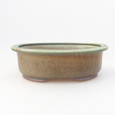Ceramic bonsai bowl 24 x 20 x 7.5 cm, color green - 1