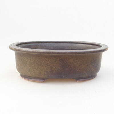 Ceramic bonsai bowl 24 x 20 x 7.5 cm, gray color - 1