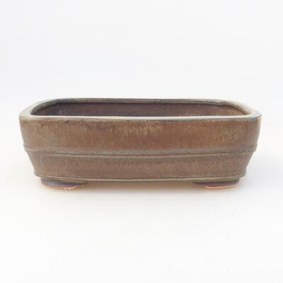 Ceramic bonsai bowl 23.5 x 18 x 7 cm, color green - 1