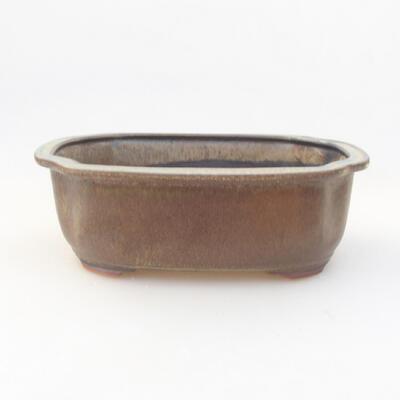 Ceramic bonsai bowl 20.5 x 16.5 x 7 cm, gray color - 1