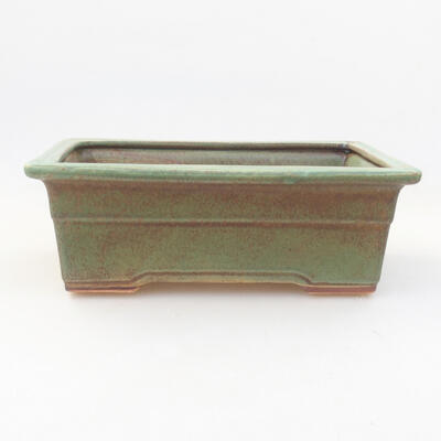 Ceramic bonsai bowl 20.5 x 15 x 7 cm, color green - 1