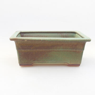 Ceramic bonsai bowl 18 x 13 x 7 cm, color green - 1