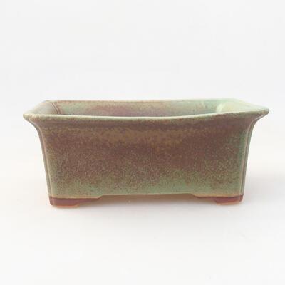 Ceramic bonsai bowl 17.5 x 14 x 7 cm, color green - 1