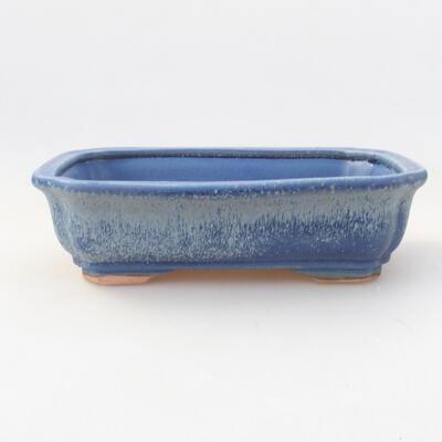 Ceramic bonsai bowl 17 x 13.5 x 4.5 cm, color blue - 1