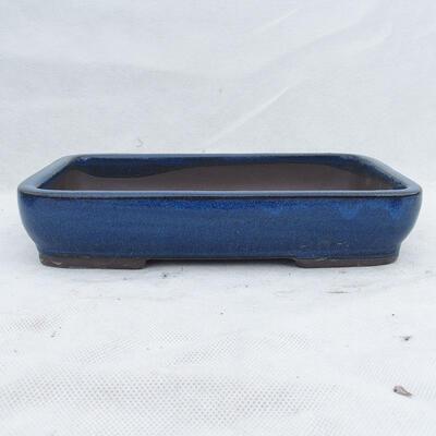 Bonsai bowl 25 x 17 x 5 cm, color blue - 1