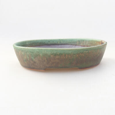 Ceramic bonsai bowl 17 x 14 x 4 cm, color green - 1