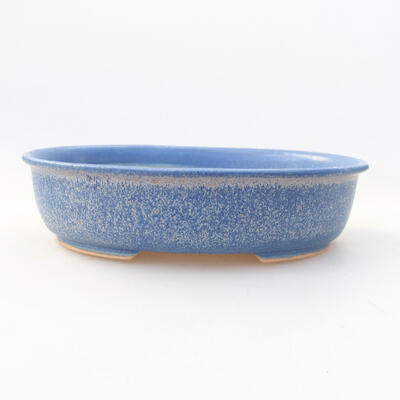 Ceramic bonsai bowl 18 x 14 x 4.5 cm, color blue - 1
