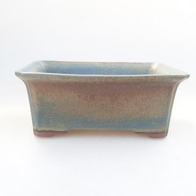 Ceramic bonsai bowl 17.5 x 14 x 6.5 cm, color blue - 1