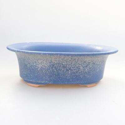 Ceramic bonsai bowl 21.5 x 17 x 6 cm, color blue - 1