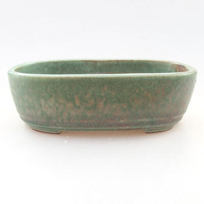 Ceramic bonsai bowl 12.5 x 9 x 3.5 cm, color green - 1
