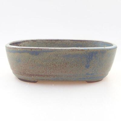 Ceramic bonsai bowl 12.5 x 9 x 3.5 cm, color blue-gray - 1