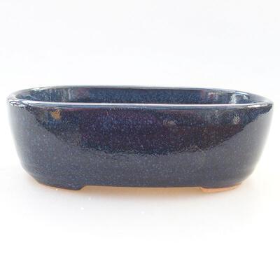 Ceramic bonsai bowl 12.5 x 9 x 3.5 cm, color blue - 1