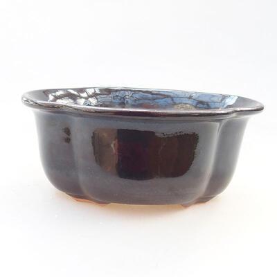 Ceramic bonsai bowl 13 x 11 x 5.5 cm, black color - 1