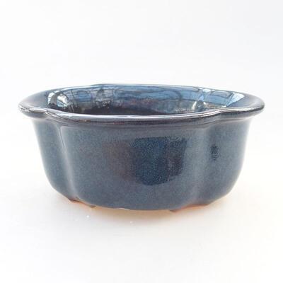 Ceramic bonsai bowl 13 x 11 x 5.5 cm, color blue - 1