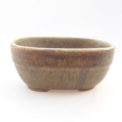 Ceramic bonsai bowl 11.5 x 8 x 5 cm, color green - 1