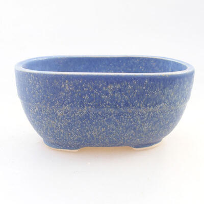 Ceramic bonsai bowl 11.5 x 8 x 5 cm, color blue - 1