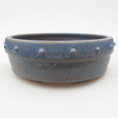 Ceramic bonsai bowl 16.5 x 16.5 x 5.5 cm, color blue - 1