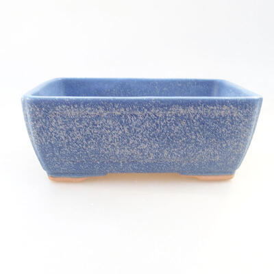 Ceramic bonsai bowl 14.5 x 11 x 5 cm, color blue - 1