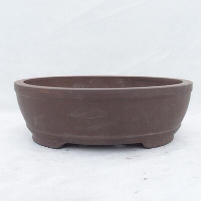 Bonsai bowl 31 x 22 x 10 cm, gray color - 1