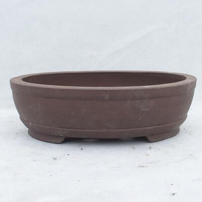Bonsai bowl 26 x 19 x 7.5 cm, gray color - 1