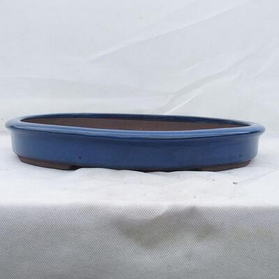 Bonsai bowl 38 x 31 x 5 cm, color blue - 1