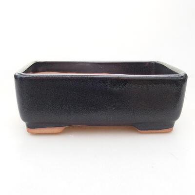Ceramic bonsai bowl 15 x 10.5 x 5 cm, gray color - 1