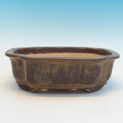 Bonsai ceramic bowl CEJ 53, brown - 1