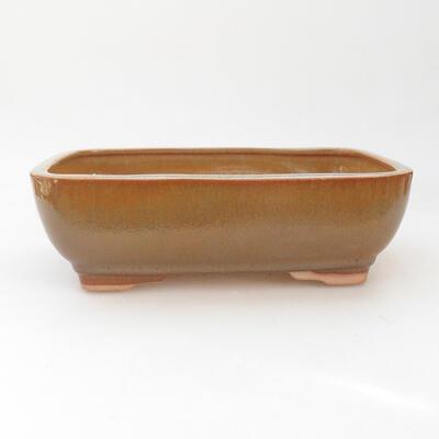 Ceramic bonsai bowl 22 x 17 x 7 cm, color brown - 1