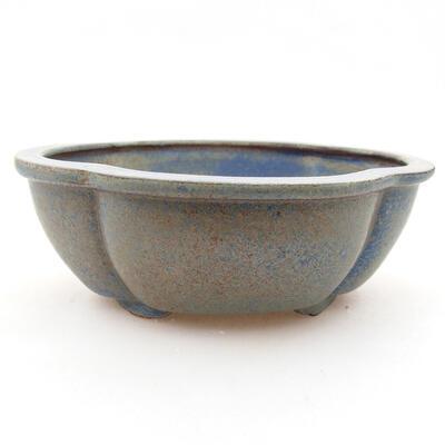 Ceramic bonsai bowl 12 x 10 x 4.5 cm, color blue - 1