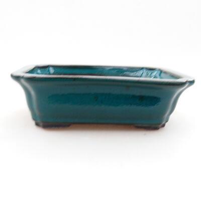 Ceramic bonsai bowl 12.5 x 10 x 4 cm, color green - 1