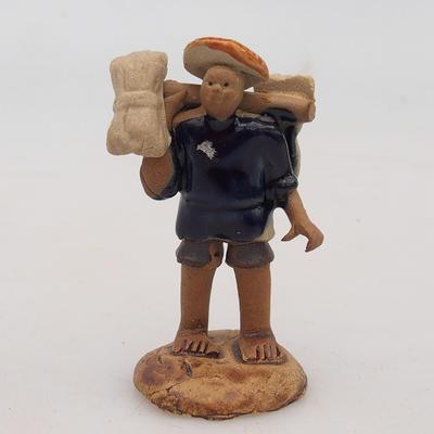 Ceramic figurine - rice picker - 1